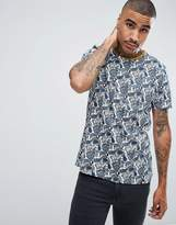 Pretty Green Kingly Paisley T-Shirt In White