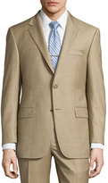 Hickey Freeman Classic-Fit Lindsey Two-Piece Sharkskin Suit, Brown