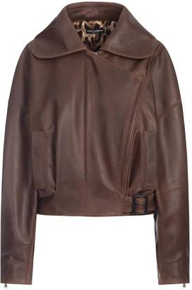Dolce & Gabbana Wrap-Front Long-Sleeve Jacket