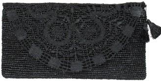 Maraina London Valentina Black Handmade Lace Raffia Evening Clutch Bag