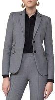Akris Punto Mini-Houndstooth Two-Button Blazer, Gray