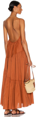 Matteau Asymmetric Tiered Sun Dress in Toffee | FWRD