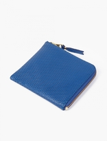 Comme Des Garcons Wallet Blue Small Leather Luxury Coin Wallet