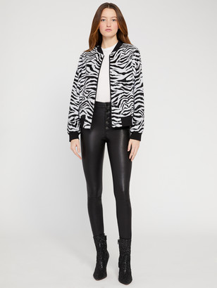 Alice + Olivia Lonnie Sequin Bomber Jacket