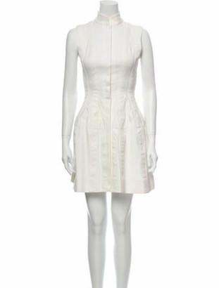 Alaia Mock Neck Mini Dress White