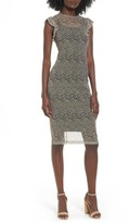 Love, Fire Women's Mesh Overlay Dress