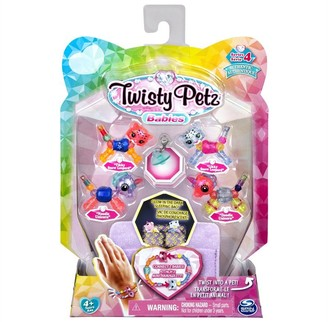 Twisty Pets Twisty Petz Series 4 Babies 4-Pack Collectible Bracelet Set and Sleeping Bag - Unicorns and Snow Leopards