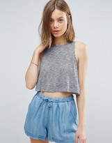 NATIVE YOUTH Slub Yarn Swing Top