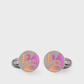 Paul Smith Men's Pink And Peach PS Logo Cufflinks