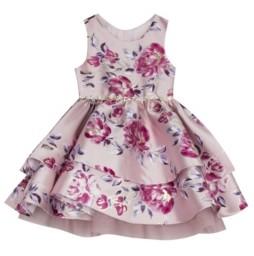 Rare Editions Little Girls Printed Foil Dress