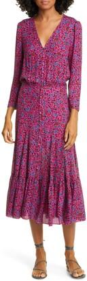Veronica Beard Lasanna Floral Silk Dress
