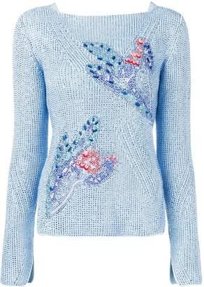 Ermanno Scervino rhinestone-embellished jumper