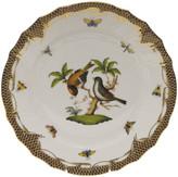 Herend Rothschild Bird Brown Motif 12 Dinner Plate