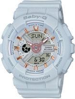 Baby-G Women's Analog-Digital Light Gray Resin Strap Watch 43x46mm BA110GA-8A