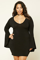 Forever 21 FOREVER 21+ Plus Size Bell Sleeve Dress