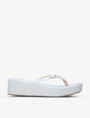 Jacquemus Les Tatanes Lin platform leather flip-flops