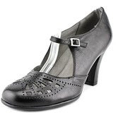 Aerosoles Role Of Fate Women Round Toe Leather Black Mary Janes.