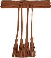 Maje Anoushka suede belt with tassels