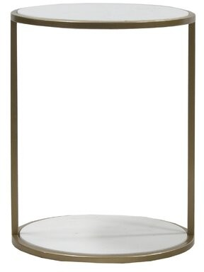 Thumbnail for your product : Mercer41 Naiara Marble Top Frame End Table