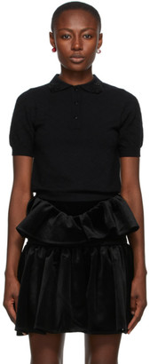 SHUSHU/TONG Black Diamond Knit Polo