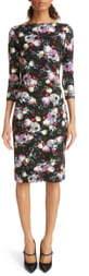 Erdem Floral Print Ponte Knit Sheath Dress