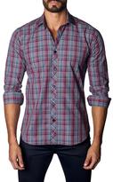 Jared Lang Cotton Plaid Button-Down Sportshirt