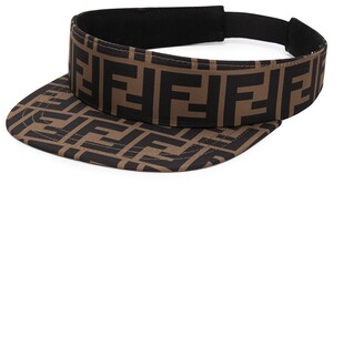 Fendi Kids FF logo print visor