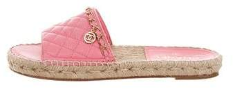 Chanel Quilted CC Sandals
