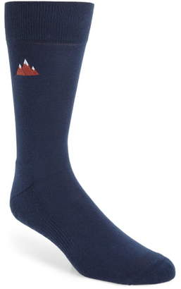 Nordstrom Embroidered Mountain Socks