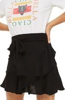 Topshop Women's Ruffle Tie Mini Skirt