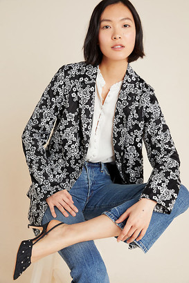 Eva Franco Kylie Embroidered Blazer By in Black Size XS