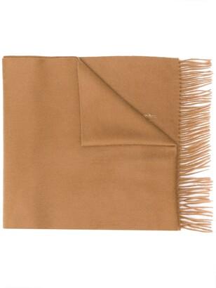 MACKINTOSH Camel Cashmere Embroidered Scarf | ACC-013/E
