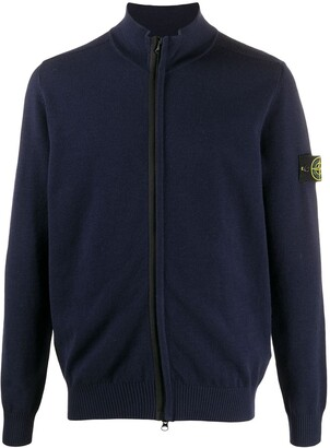 Stone Island Fine Knit Zip-Up Cardigan