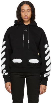 Off-White SSENSE Exclusive Black Spray Paint Hoodie