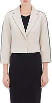 Narciso Rodriguez Women's Leather-Trimmed Melton Crop Jacket-CREAM