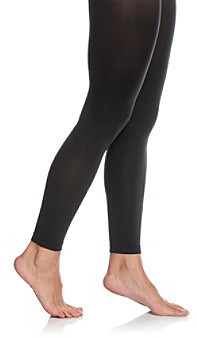 Hue Super Opaque Footless Tights with Control Top