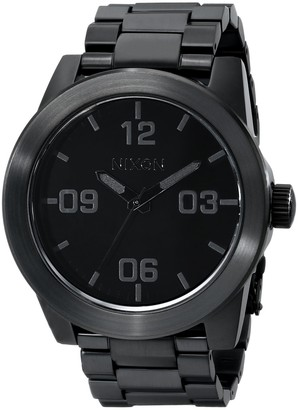 Nixon Corporal SS A346001-00. All Black Stainless Steel Mens Watch (48mm Black Watch Face/ 24mm Black Steel Band)