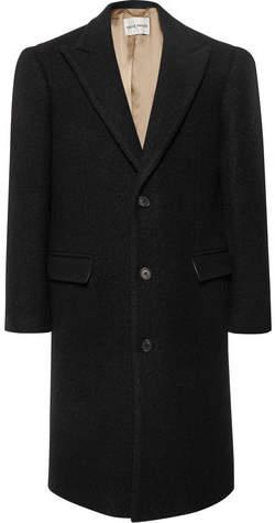 Privee SALLE Adrian Slim-Fit Bouclé Virgin Wool Overcoat