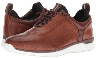 Johnston & Murphy Prentiss XC4(r) U-Throat Casual Dress Sneaker (Mahogany Waterproof Full Grain) Men's Shoes