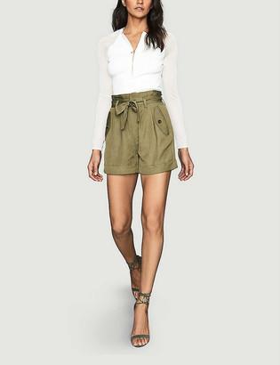 Reiss Lorena high-rise woven shorts