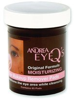 Andrea Eye Q's Moisturizing Eye Makeup Remover Pads, 65 Count (Pack of 6) by