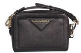 Karl Lagerfeld Women's Black Leather Shoulder Bag.