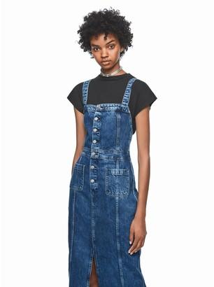 Pepe Jeans Dua Lipa Denim Midi Dress with Pockets