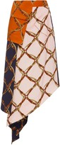 Jonathan Simkhai Saddle Print Handkerchief Skirt