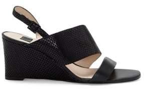 Louise et Cie Quarza Leather Wedge Sandals