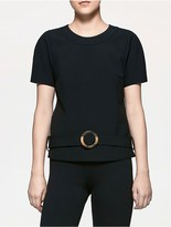Calvin Klein Platinum Double Weave Belted Top