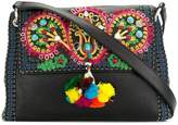 Etro embroidered pompom shoulder bag
