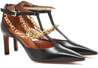 Altuzarra Chain-trimmed leather pumps