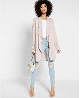 Express drape front soft twill jacket