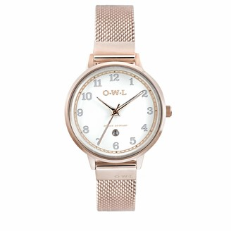 OWL Women's Analogue Japanese Quartz Watch with Stainless Steel Strap S8MRW